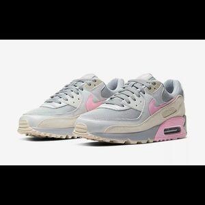 Nike Air Max 90 'Grey Pink' Women's Sz CW7483 001